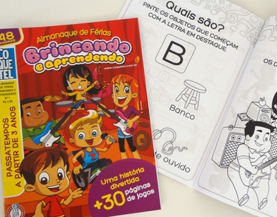 Puzzle magazine for 3-year-old kids