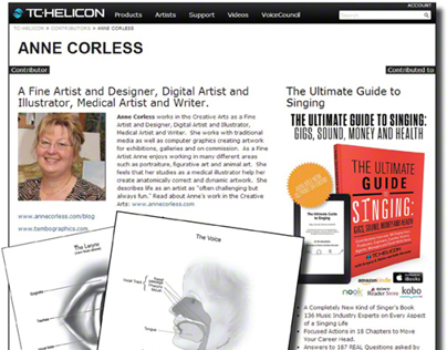AnneCorless contributor 'The Ultimate Guide To Singing'