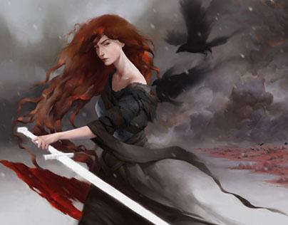 Morrigan. Illustration for Mythbook
