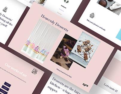 Heavenly Desserts Website Design