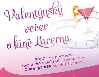 Leták - Valentýnský večer v kině Lucerna