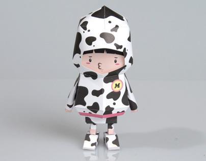 [ MILK COW ] Paper toy of Boogiehood