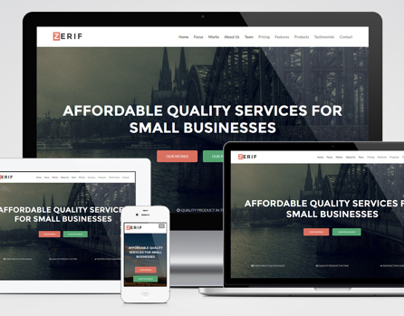 Zerif - One Page Responsive Template