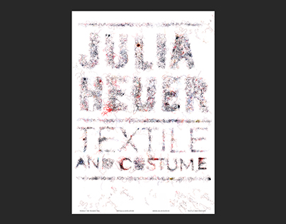 Textile and Costume, Julia Heuer – Poster