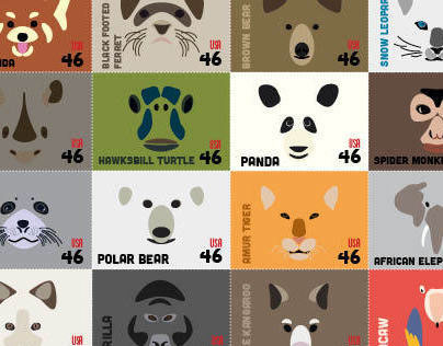 Postcard and Stamps for WWF