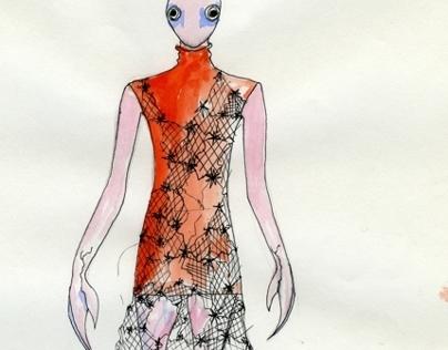 Ilustração de matéria têxtil