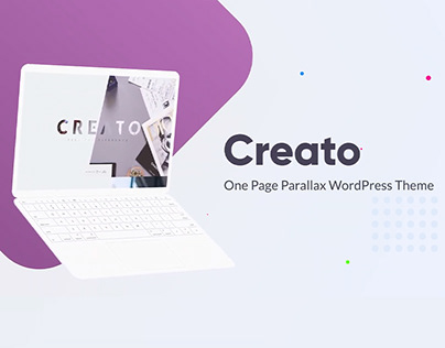 Creato - Parallax WordPress Theme - Presentation