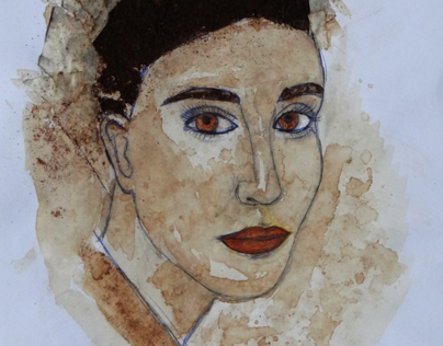 Coffee Woman - drawing