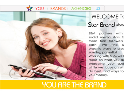 MockUp Stars Brand web pages