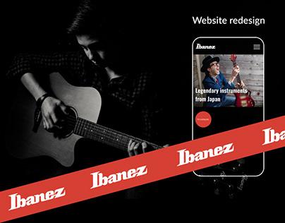 Ibanez website redesign