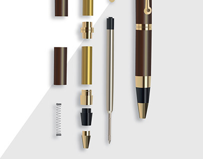 The component parts of a pen