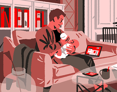 Paternity Leave - Editorial Illustrations