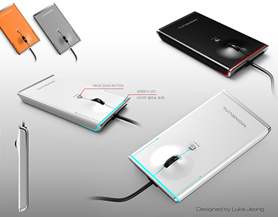 Portable Anti-Virus Mouse for Moneual / AhnLab