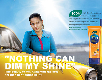 Joy Hello Sun - Magazine ad