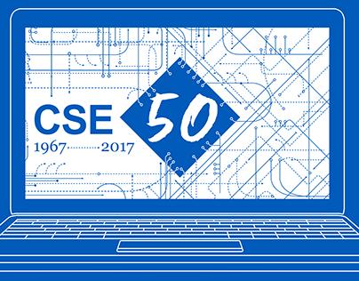 University at Buffalo CSE 50th Anniversary Graphic