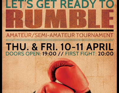 Boxing Flyer Template On Behance