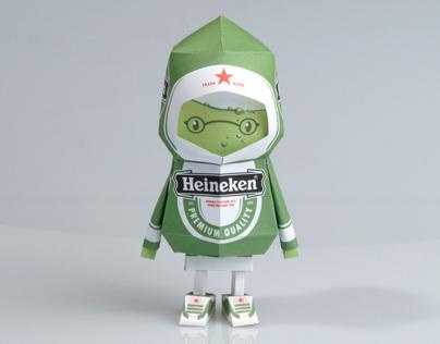 [ Heineken ] Paper toy of Boogiehood