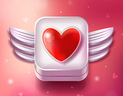 Valentines Day Icon Illustration for Stock