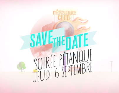 SaveTheDate// Pétanque Night