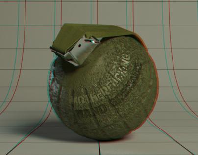 Anaglyph 3D Grenade