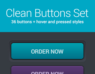 Clean buttons set