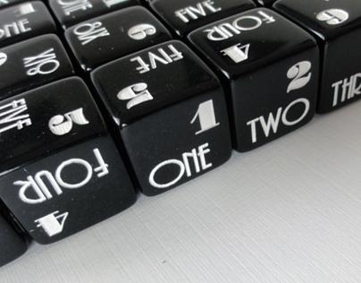 TheBlackBook Typographic Dice