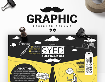 Graphic Designer Resume Mockup