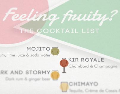 Wedding Cocktail Menus