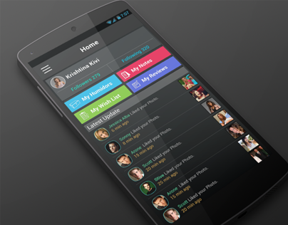 Social Android UI