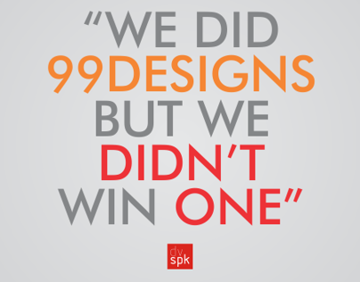 We did 99designs, but we didn't win one. (part 3)