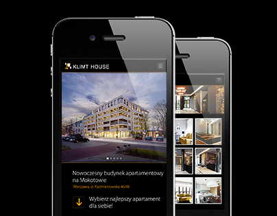 Klimt House - Developer mobile page