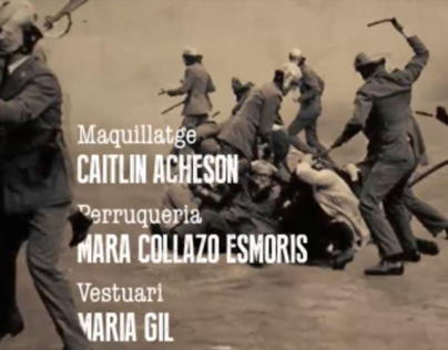 Redesign title credits of the film Salvador Puig Antich