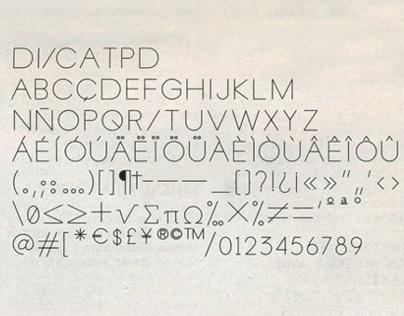 Disca Font (2006, type design)