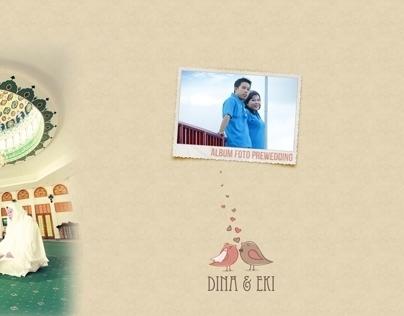 Album Kolase Prewedding Photo - DINA dan  EKi
