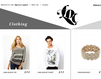 LDC fashion store - one page e-commerce