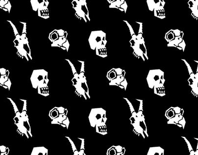 Skulls Pattern (Beer Coaster)