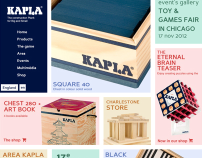 Web design, my new identity for Kapla