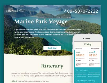 Marine Tour Promo Webpage