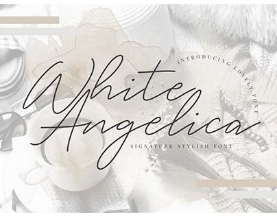 WHITE ANGELICA - 100% FREE HANDWRITTEN SCRIPT FONT