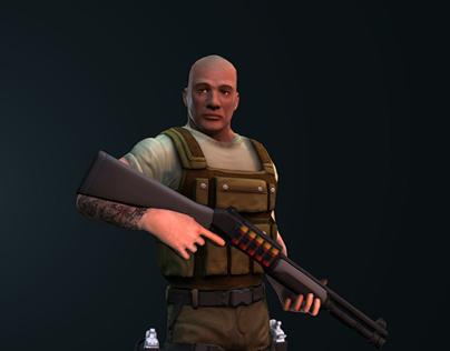 the mercenary game character