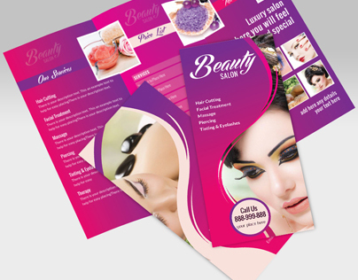 Beauty Saloon  Spa TriFold Brochure On Behance