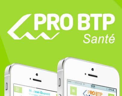 PRO BTP Santé - app iPhone
