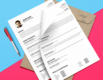 Resume template (.PSD and .DOCX) - Johannes Vermeer