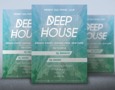 Flyer Deep House
