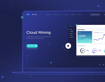 Landing Page for cloud mining