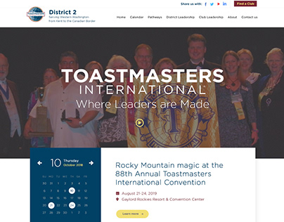 D2 Toastmasters - Web Design & WP Development