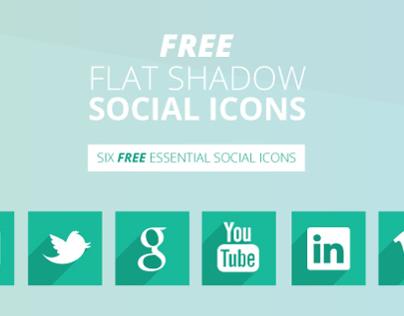 Free Shadow Social Icons