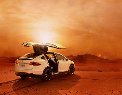 Tesla X on Mars