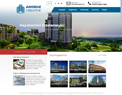 Construction Business Web Design