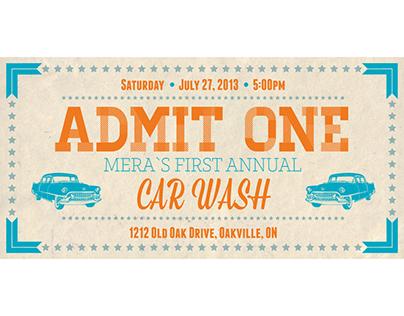 MERA Car wash ticket design